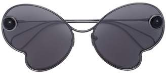 Christopher Kane Eyewear butterfly sunglasses
