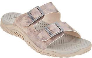 Skechers Metallic Double Strap Sandals -Reggae