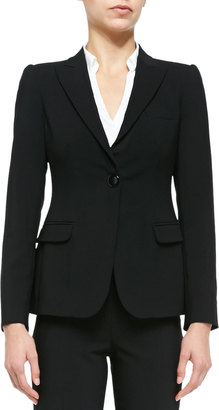 Armani Collezioni Featherweight Wool One-Button Jacket $1,295 thestylecure.com