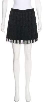Reformation Fringe-Trimmed Mini Skirt