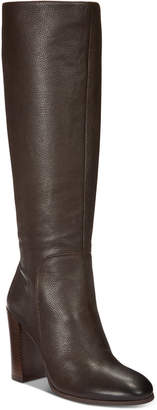Kenneth Cole New York Women's Justin Block-Heel Tall Boots Women's Shoes