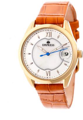 Empress Messalina Automatic Camel Leather Watch 34mm