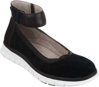 Vionic Suede Ankle-Strap Slip-On Shoes - Camile