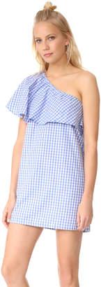MLM LABEL Henri Frill Shoulder Dress $165 thestylecure.com