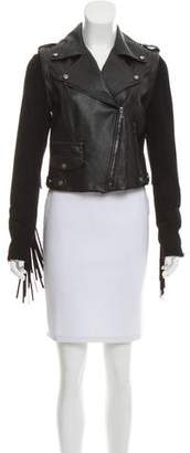 Ramy Brook Convertible Leather Jacket