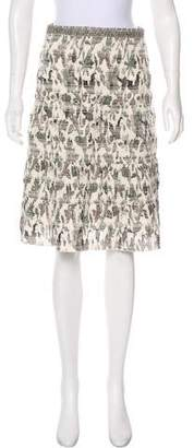 Tory Burch Printed A-Line Skirt
