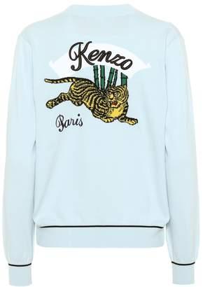 Kenzo Appliqued cotton-blend cardigan