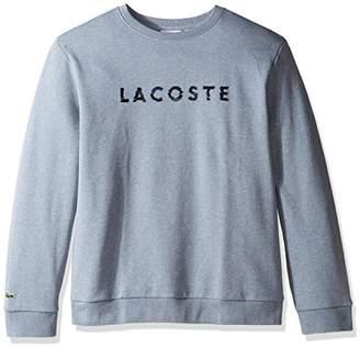 Lacoste Men's Crewneck 3D Logo Print Fleece Sweater