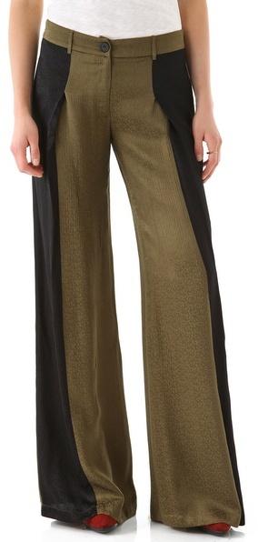 10 crosby derek lam Colorblock Wide Leg Trousers