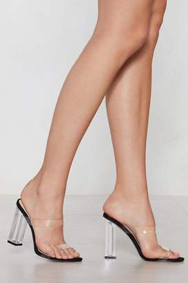 Nasty Gal Let's See What I Can Do Clear Heel