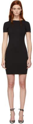 Alexander Wang Black Compact Jersey Snaps Dress