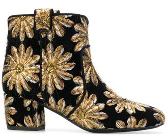 Laurence Dacade embroidered flower ankle boots