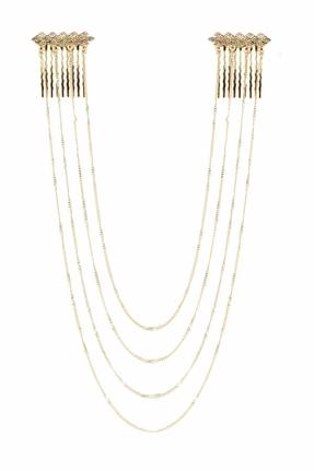 Belle Noel by Kim Kardashian Vintage Glamour Pavé Hairpiece in Gold