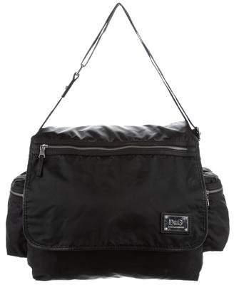 Dolce & Gabbana Leather-Trimmed Nylon Bag
