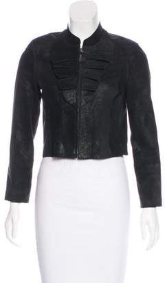 Graham & Spencer Leather Cropped Jacket