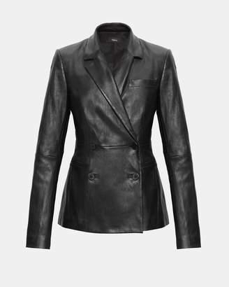 Theory Leather Blazer
