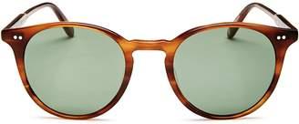 Garrett Leight Clune Round Sunglasses, 48mm