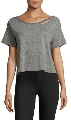 n:Philanthropy Codie Cropped Studded Tee $98 thestylecure.com