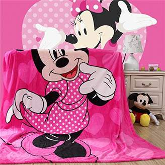 "Blaze Children's Cartoon Printing Blanket Coral Fleece Blanket 59 by 79"" (Minnie)"