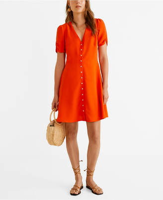 MANGO Short Buttoned Dress