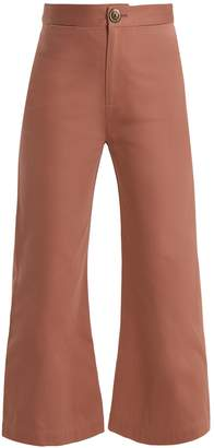 Sea Sailor kick-flare cotton cropped trousers