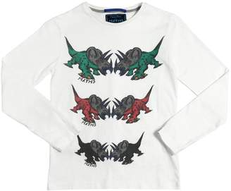 Myths Dinosaurs Print Cotton Interlock T-Shirt