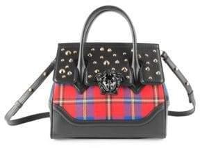 Versace Tartan Palazzo Empire Top Handle Bag