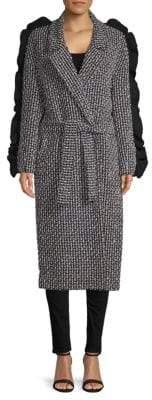 Mother of Pearl Bexley Textured Wrap Coat