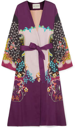Etro Printed Satin Jacket - Purple