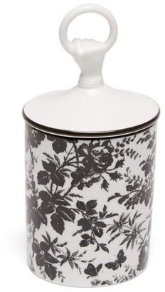 Gucci Herbarium Floral Print Porcelain Scented Candle - White Black