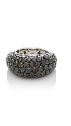 Black Diamond Giovane 18K White Gold Pavé Ring