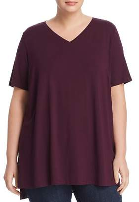 Eileen Fisher Plus V-Neck Tunic Tee