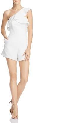 Bardot Ruffled One-Shoulder Romper - 100% Exclusive