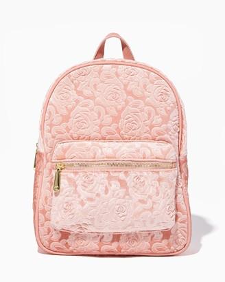 Charming charlie Velvet Jacquard Florals Backpack