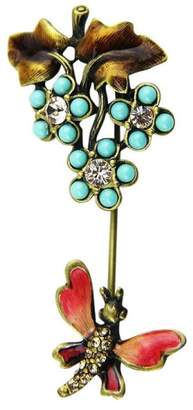 Jay Strongwater Turquoise With Fly Swarovski Pin