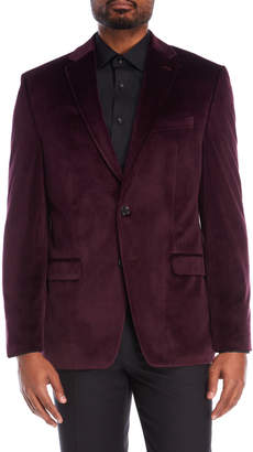 Lauren Ralph Lauren Burgundy Velvet Sports Coat