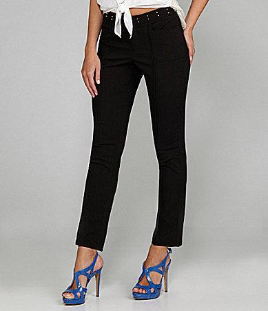 Gibson & Latimer Studded-Waistband Pants