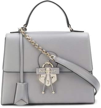 Salvatore Ferragamo Gancio embellished top handle bag