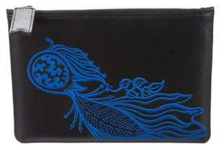 Creatures of the Wind Embroidered Leather Cosmetic Bag