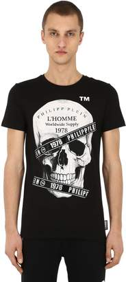 Philipp Plein Printed & Embellished Cotton T-Shirt