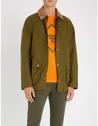 Barbour Bedale corduroy-trimmed cotton jacket