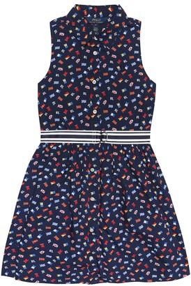 Polo Ralph Lauren Flag belted cotton shirt dress