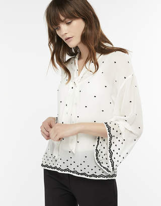 Monsoon Halle Heart Embroidered Blouse