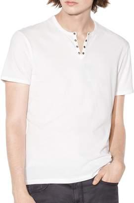 John Varvatos Eyelet Crew Neck Knit T-Shirt