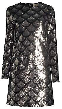 MICHAEL Michael Kors Women's Scallop Sequin Shift Dress