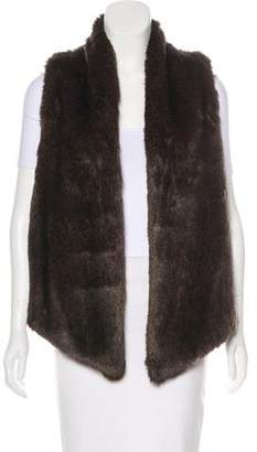 Tart Faux-Fur Open Front Vest w/ Tags