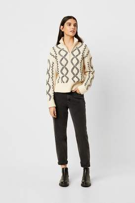 Susa French Connenction Cable Knits Zip Neck Jumper