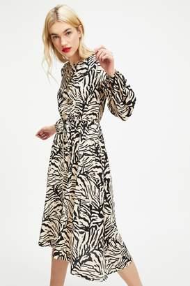 52ed93e18e7 Next Womens Miss Selfridge Zebra Midi Dress
