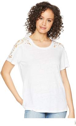 Paige Cassandra Shirt w/ Crochet Women's Clothing