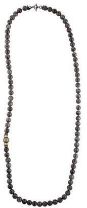 Armenta Pearl, Labradorite & Diamond Bead Strand Necklace